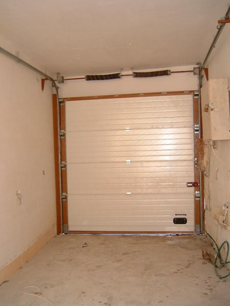 Insulated Sectional Door from the Inside