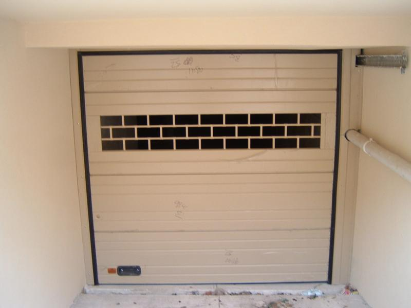 Sectional Door including see-through